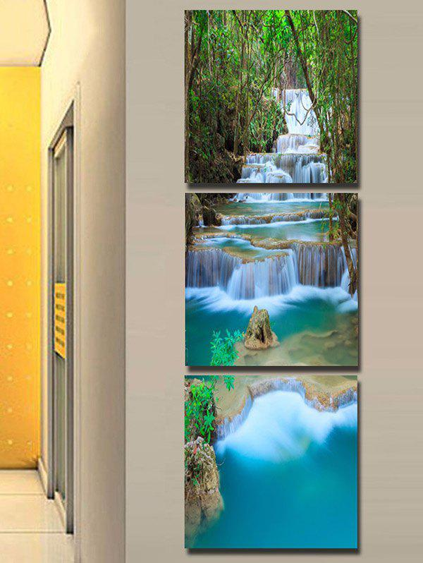 Forest Cascade Falls Printed Wall Art Unframed Canvas Paintings colorful bricks wall printed unframed canvas paintings