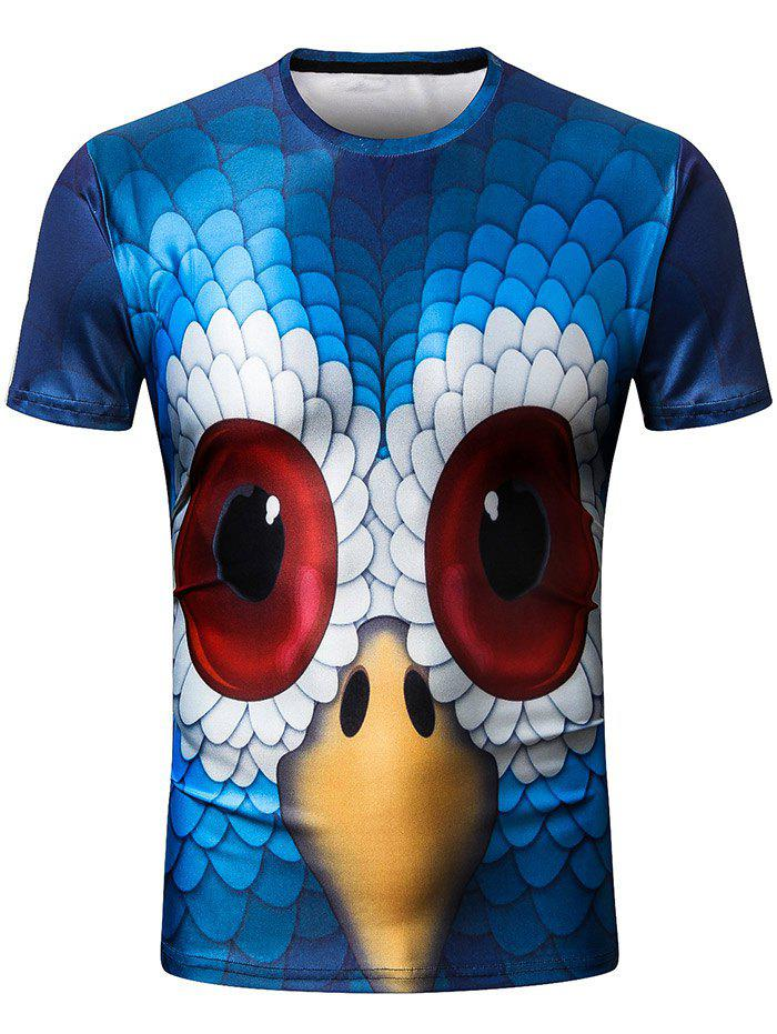 Short Sleeve 3D Eagle Head Print T-shirt
