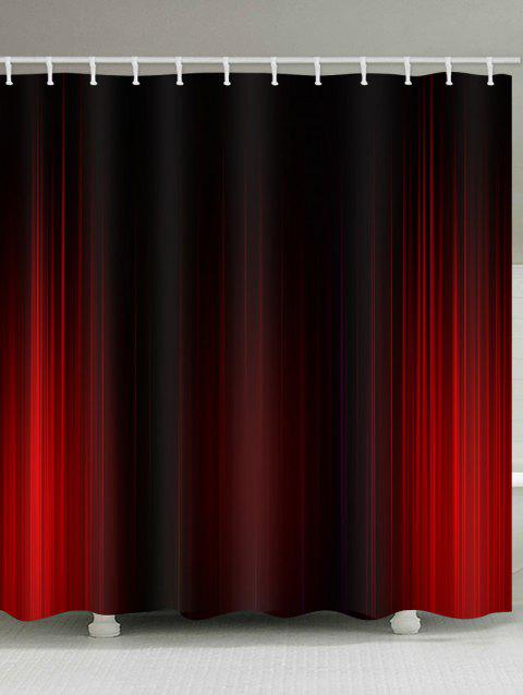 Stage Curtain Print Waterproof Shower Curtain - RED W71 INCH * L71 INCH