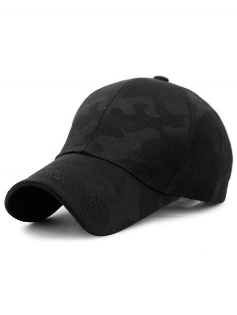 Camou Pattern Breathable Sunscreen Hat - BLACK