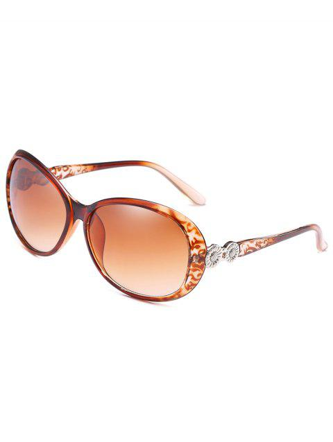 ea6e31da16 Anti Fatigue Metal Carving Frame Catty Sunglasses - LIGHT BROWN