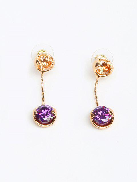 Alloy Rhinestone Round Drop Earrings - GOLD