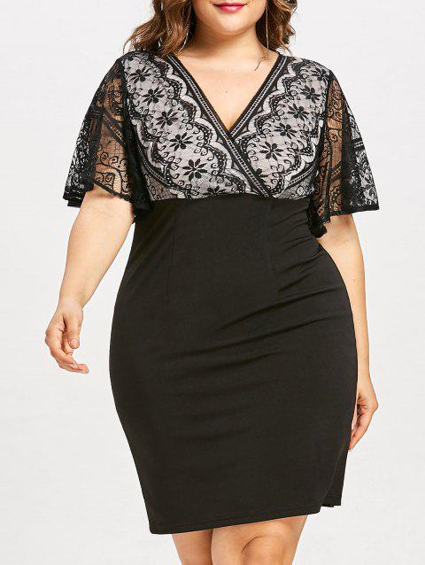 Plus Size Knee Length Business Dress