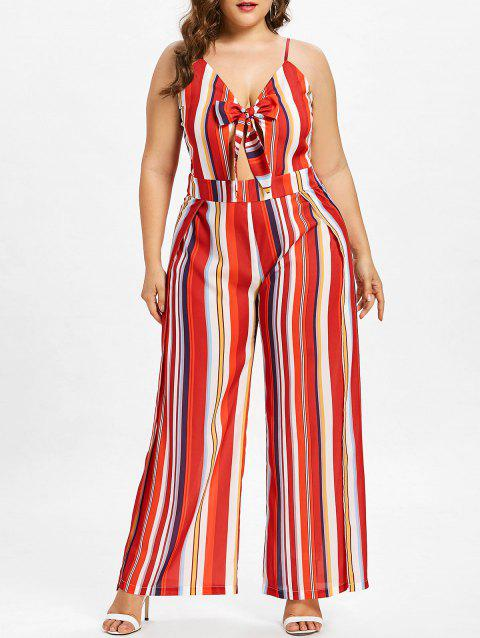 a52281a065d LIMITED OFFER  2019 Plus Size Striped Wide Leg Jumpsuit In FIRE ...