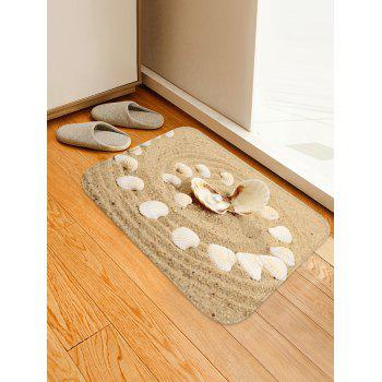 Beach Shell with Pearl Water Absorption Area Rug - CAMEL BROWN W16 INCH * L24 INCH