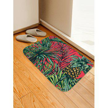 Leaves Pineapple Print Floor Area Rug - multicolor G W16 INCH * L24 INCH