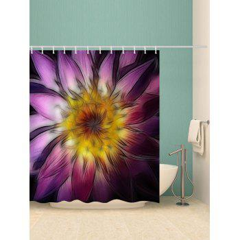 Blooming Flower Print Bath Decor Shower Curtain - multicolor W71 INCH * L79 INCH