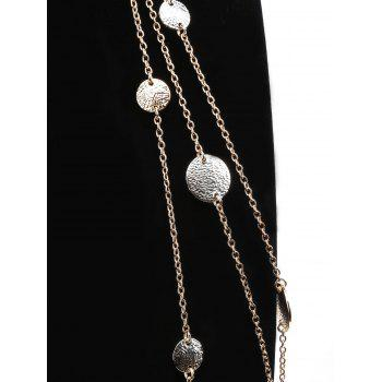 Layered Coins Embellished Alloy Chain Pendant Necklace - GOLD
