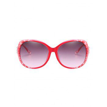Anti Fatigue Full Frame Butterfly Sunglasses - MEDIUM VIOLET RED