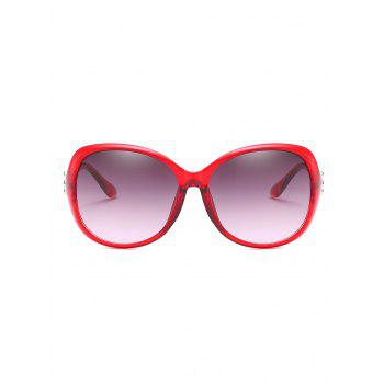 Anti Fatigue Full Frame Butterfly Sunglasses - LAVA RED