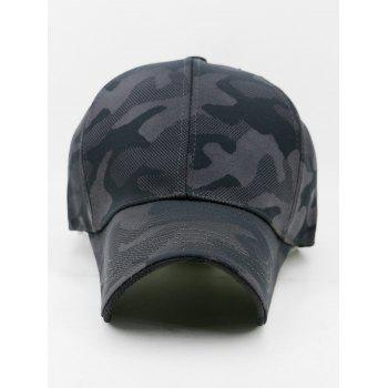 Camou Pattern Breathable Sunscreen Hat - GRAY