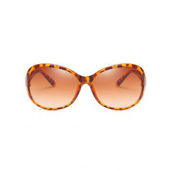 Anti Fatigue Metal Carving Frame Catty Sunglasses - BROWN