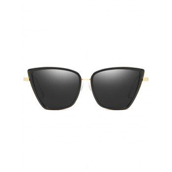 Unique Metal Full Frame Sun Shades Sunglasses - BLACK