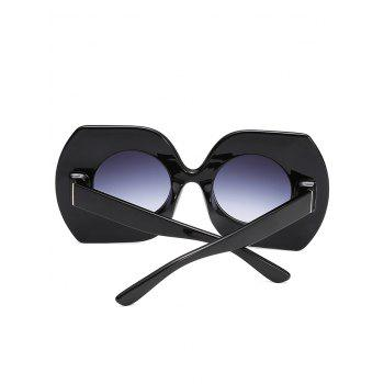 Anti Fatigue Rhinestone Oversized Sunglasses - BLACK