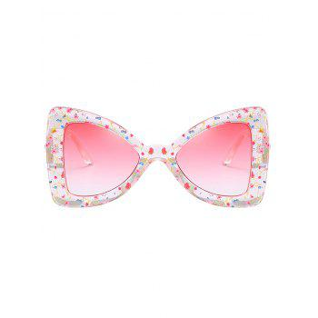 Unique Faux Pearl Butterfly Sunglasses - LIGHT PINK