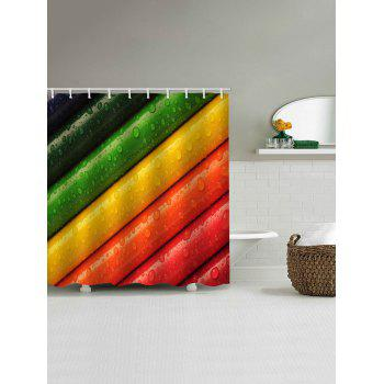 Colorful Crayons Printed Bath Decor Shower Curtain - multicolor W59 INCH * L71 INCH