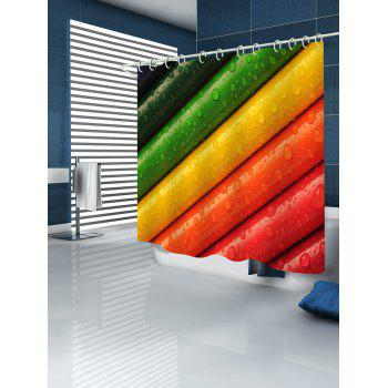Colorful Crayons Printed Bath Decor Shower Curtain - multicolor W71 INCH * L79 INCH
