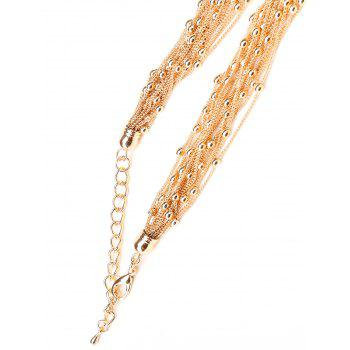 Vintage Multilayers Beads Necklace - GOLD