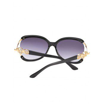 Retro Metal Full Frame Sun Shades Sunglasses - BLACK