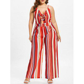 Plus Size Striped Wide Leg Jumpsuit by Dress Lily