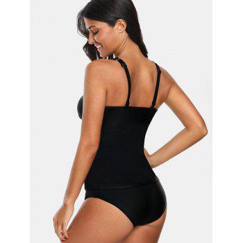 Empire Waist Backless Tankini - BLACK L