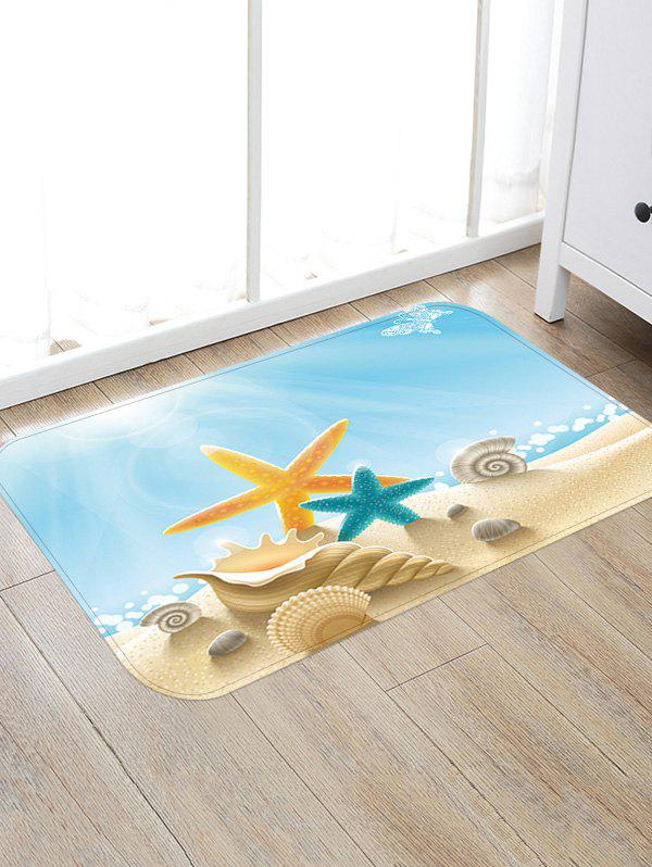Sunny Beach Starfish Conch Anti-skid Floor Area Rug sand shell starfish pattern floor area rug