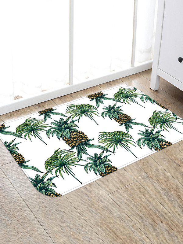 Fruit Pineapples Pattern Indoor Outdoor Floor Rug - VENOM GREEN W16 INCH * L24 INCH