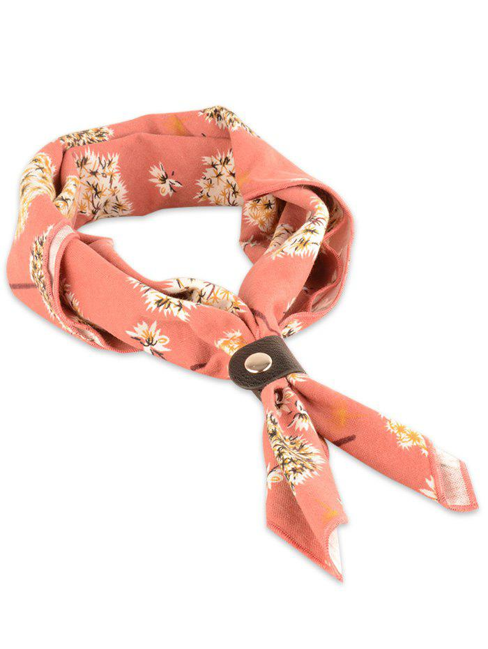 Fresh Dandelion Pattern Square Neck Scarf - DEEP PEACH