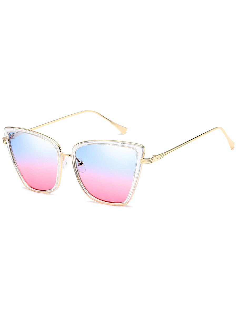 Unique Metal Full Frame Sun Shades Sunglasses - PIG PINK