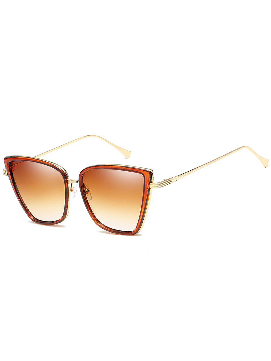 Unique Metal Full Frame Sun Shades Sunglasses - BROWN