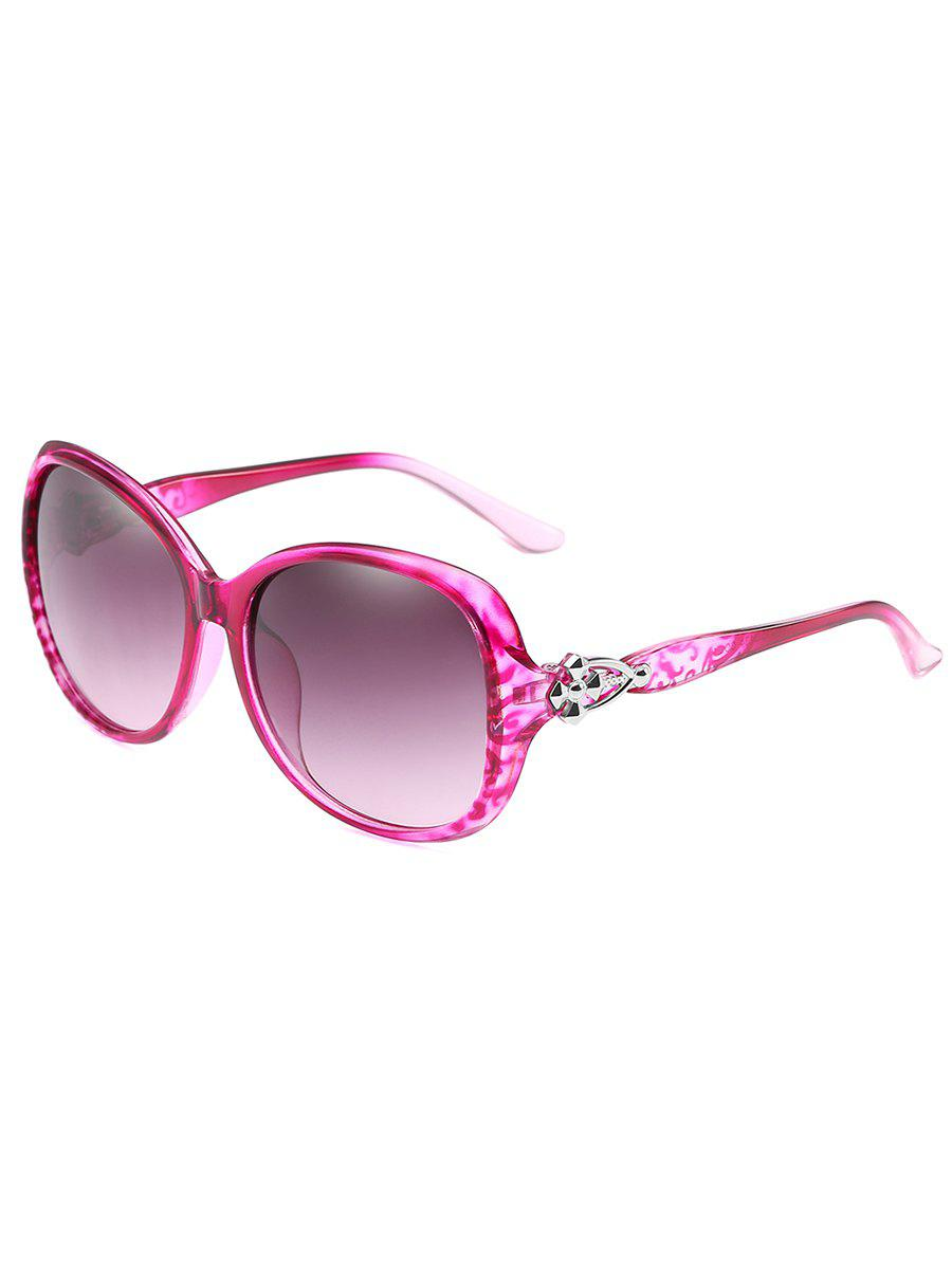 Anti Fatigue Full Frame Butterfly Sunglasses - VIOLET RED