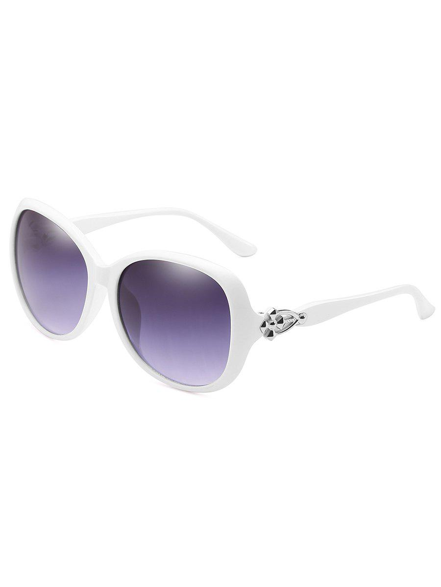 Anti Fatigue Full Frame Butterfly Sunglasses - WHITE