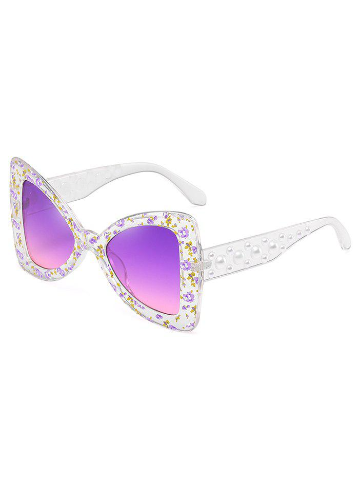 Unique Faux Pearl Butterfly Sunglasses - HELIOTROPE PURPLE