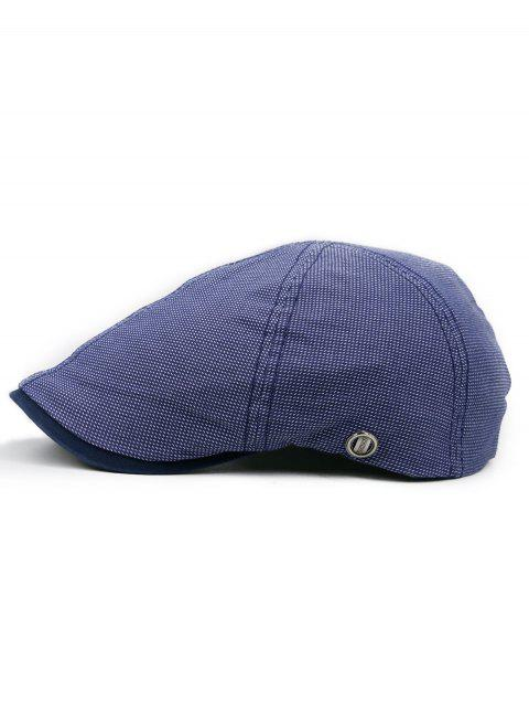 Adjustable Newsboy Flat Cap Hat - DENIM DARK BLUE