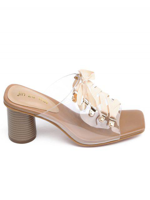 960824905ed LIMITED OFFER  2019 High Heel Chic Crisscross Mules Shoes In APRICOT ...