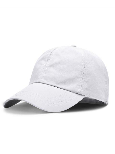 Line Embroidery Quick Dry Summer Hat - WHITE
