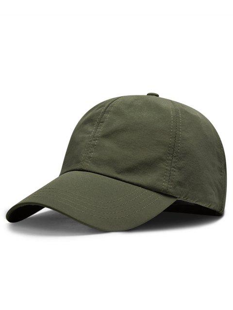 Line Embroidery Quick Dry Summer Hat - ARMY GREEN