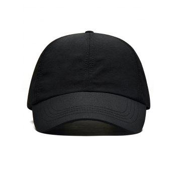 Line Embroidery Quick Dry Summer Hat - BLACK