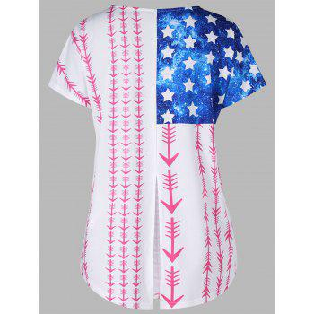 Short Sleeve Arrows and Stars T-shirt - COLORMIX 2XL