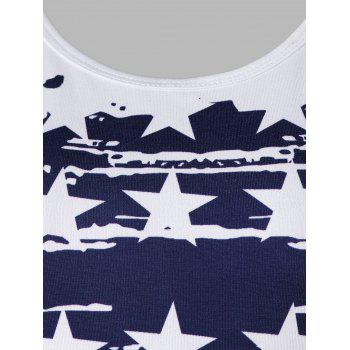Stars and Stripes Tank Top - WHITE M