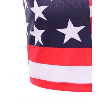 USA Flag Crop Slip Top - COLORMIX L