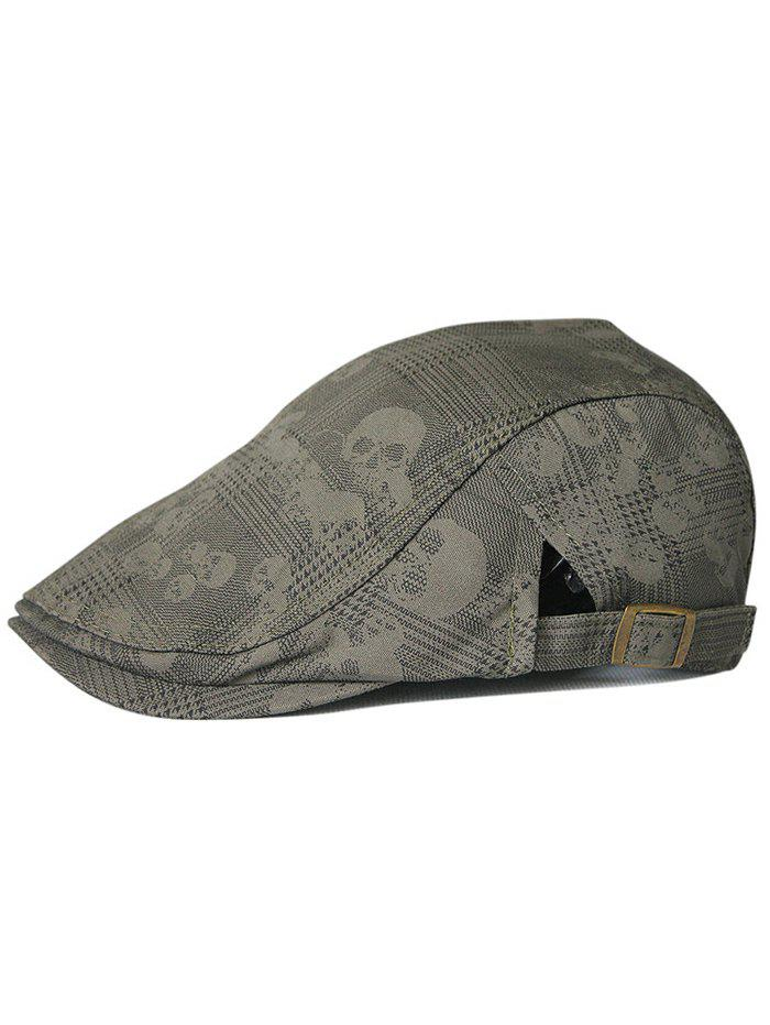 Outdoor Skull Pattern Cabbie Hat - ARMY GREEN