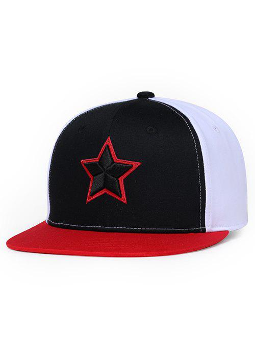 Unique Star Pattern Embroidery Hunting Hat - BLACK
