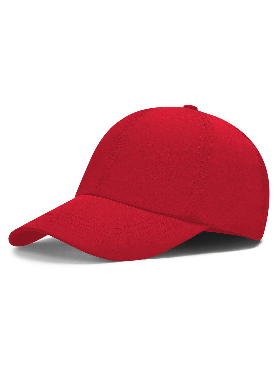 Line Embroidery Quick Dry Summer Hat - LOVE RED