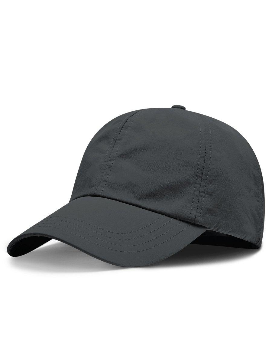 Line Embroidery Quick Dry Summer Hat - DARK SLATE GREY