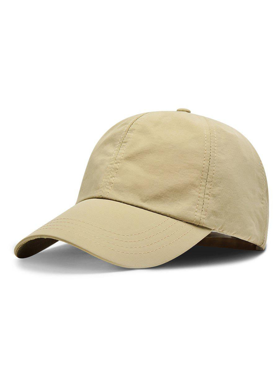 Line Embroidery Quick Dry Summer Hat - LIGHT KHAKI