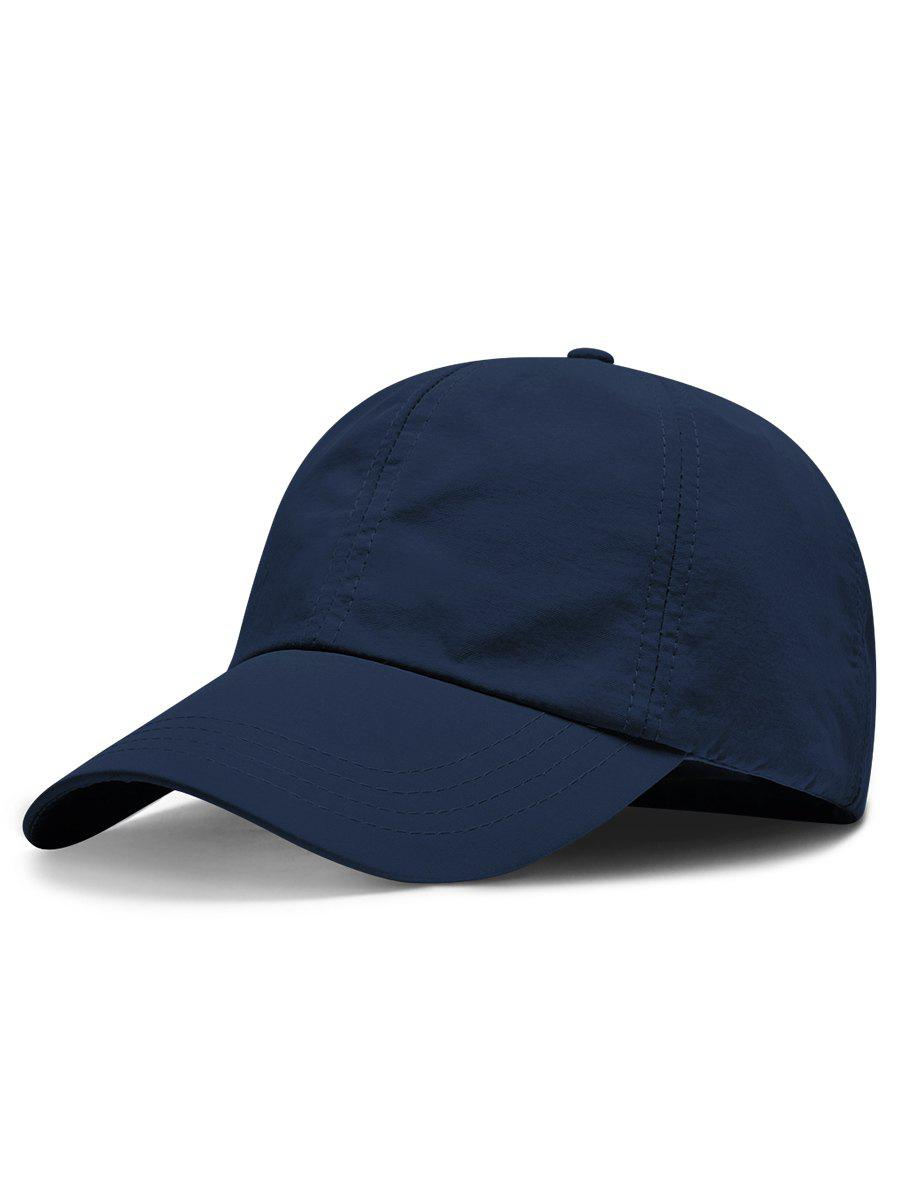 Line Embroidery Quick Dry Summer Hat - DARK SLATE BLUE