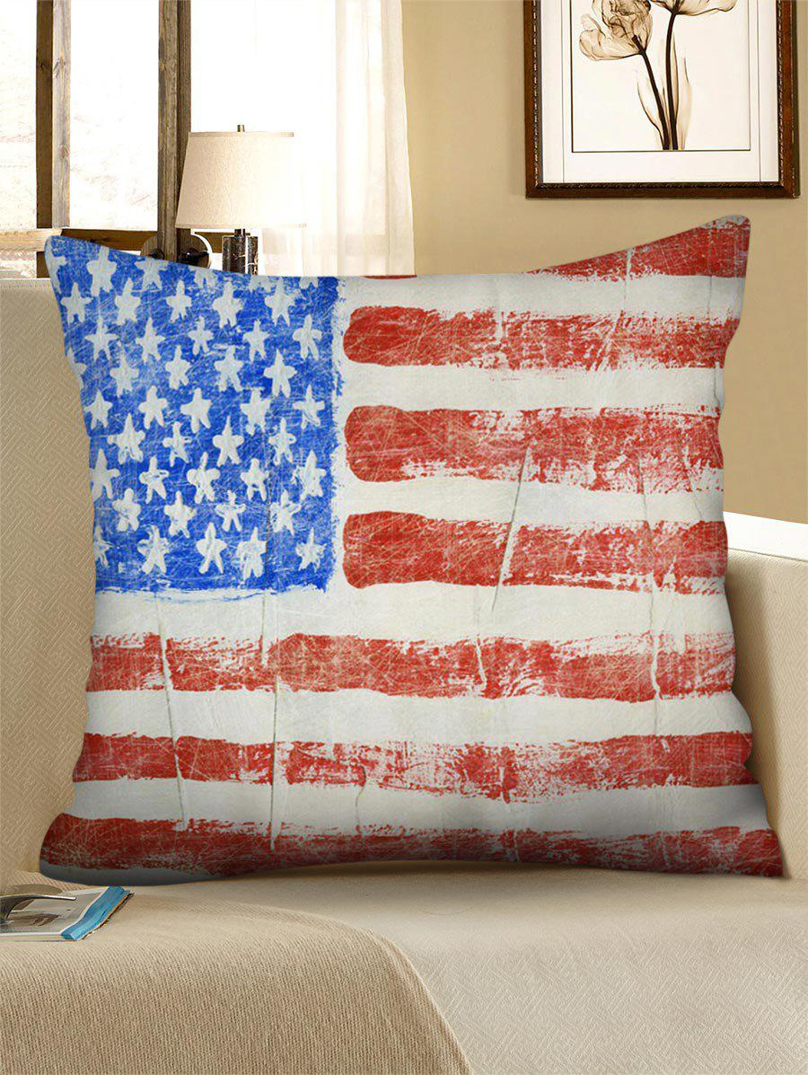 American Flag Pattern Linen Sofa Pillowcase - multicolor 45*45CM