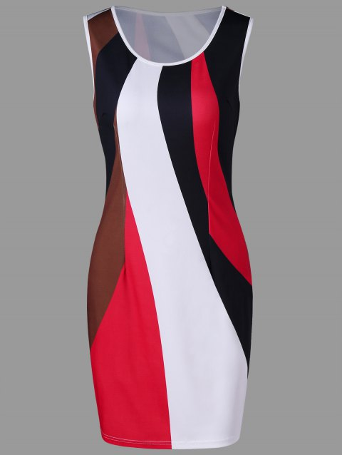 Hit Color Sheath Dress - COLORMIX L