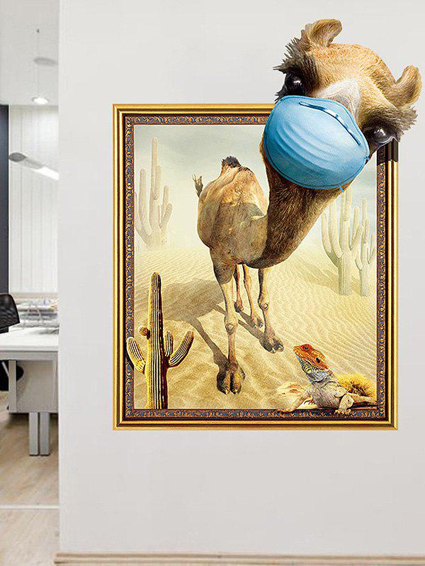2018 3D Funny Camel Removable Wall Art Stickers Home Decor ...